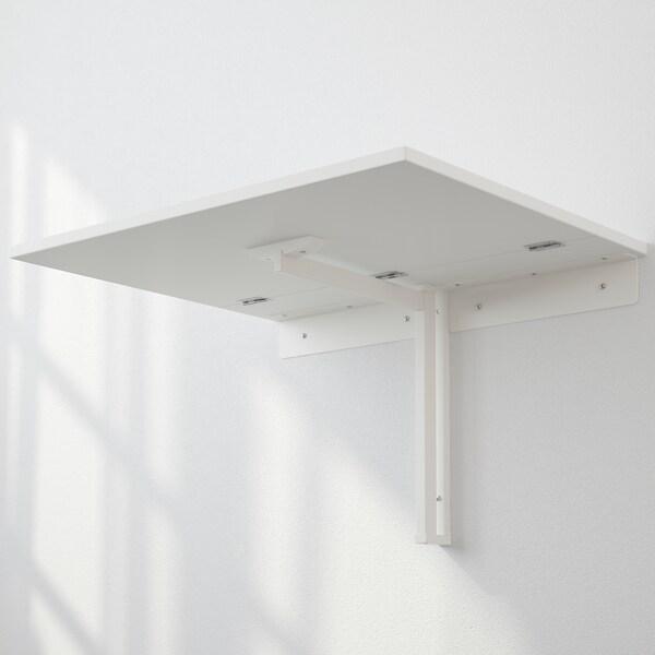 NORBERG rozklad stôl s upevnením ku stene biela 74 cm 60 cm 43 cm