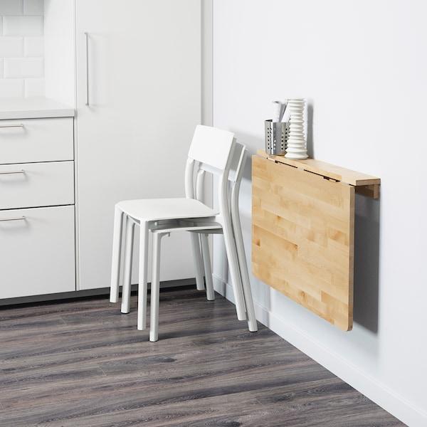 NORBO Rozklad stôl s upevnením ku stene, breza, 79x59 cm