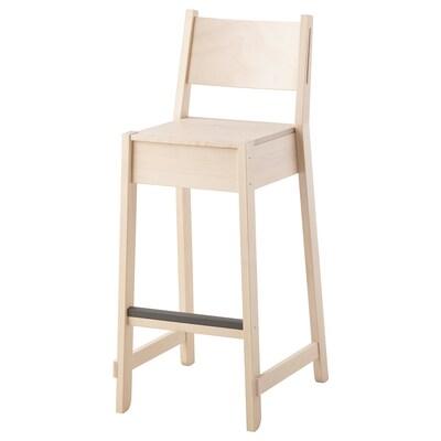 NORRÅKER Barová stolička, breza, 74 cm
