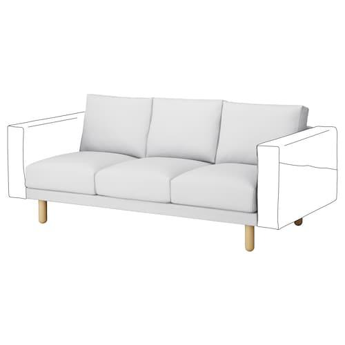 NORSBORG 3-miestny sedací diel Finnsta biela/breza 181 cm 88 cm 85 cm 18 cm 60 cm 43 cm