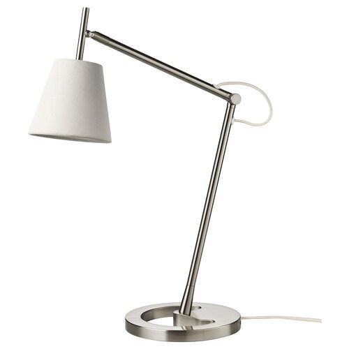 NYFORS pracovná lampa poniklované biela 5.7 W 400 lm 88 cm 21 cm 14 cm 1.8 m 5.7 W