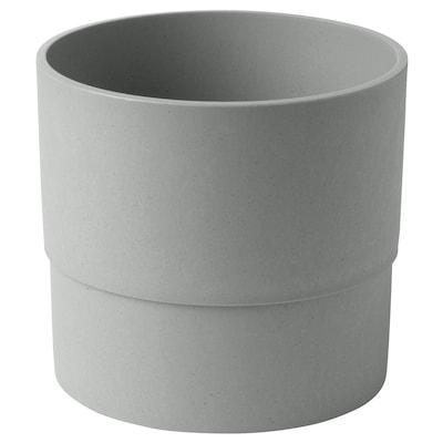 NYPON Kvetináč, na von/dnu sivá, 15 cm