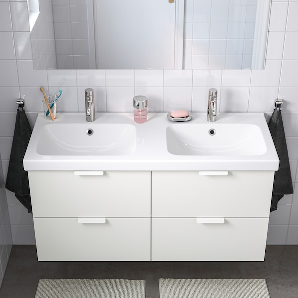 ODENSVIK Dvojité umývadlo, 123x49x6 cm