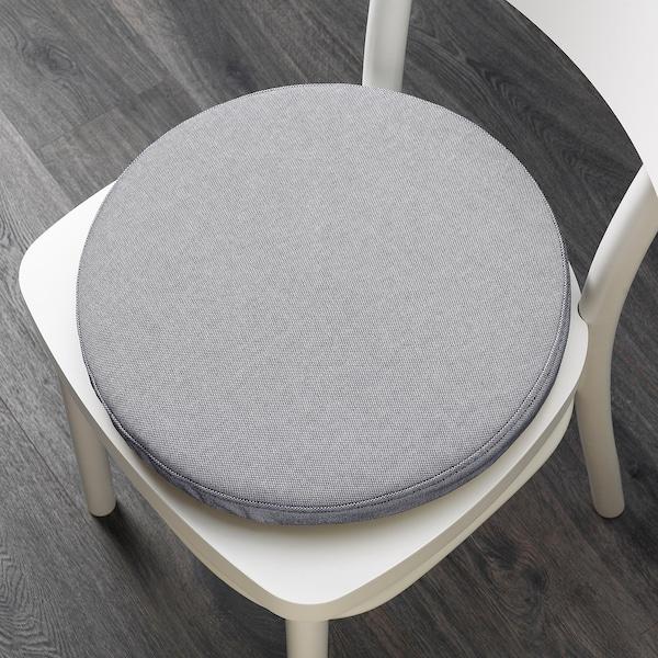 OMTÄNKSAM podložka na stoličku Orrsta svetlosivá 38 cm 7.0 cm 339 g 525 g