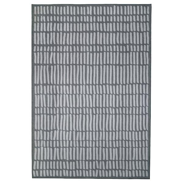 OMTÄNKSAM Koberec, hladko tkaný, sivá, 133x195 cm