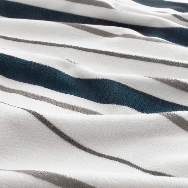 OTTSJÖN osuška biela/modrá 140 cm 70 cm 0.98 m² 390 g/m²