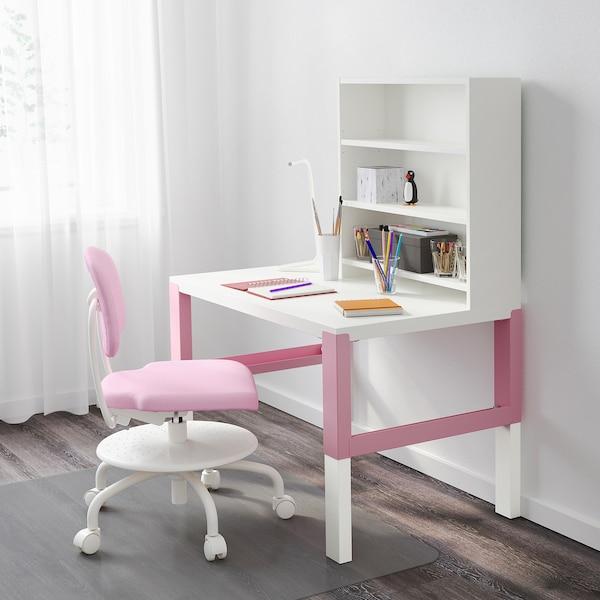 PÅHL Pracovný stôl, biela/ružová, 96x58 cm