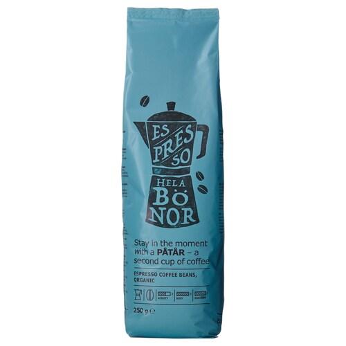 PÅTÅR espresso, zrnková káva organický /Certifikát UTZ, 100 % Arabica 250 g