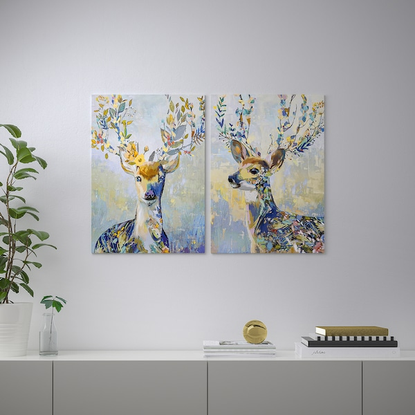 PJÄTTERYD Obraz, farebný sob, 50x70 cm