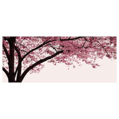 PJÄTTERYD Obraz, Rozkvitnutá čerešňa, strom, 140x56 cm