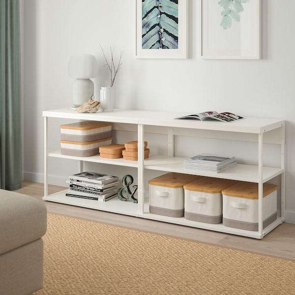 PLATSA Otvorený policový diel, biela, 160x40x63 cm