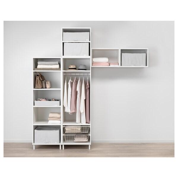 PLATSA Skriňa, biela/Fonnes biela, 240x57x251 cm