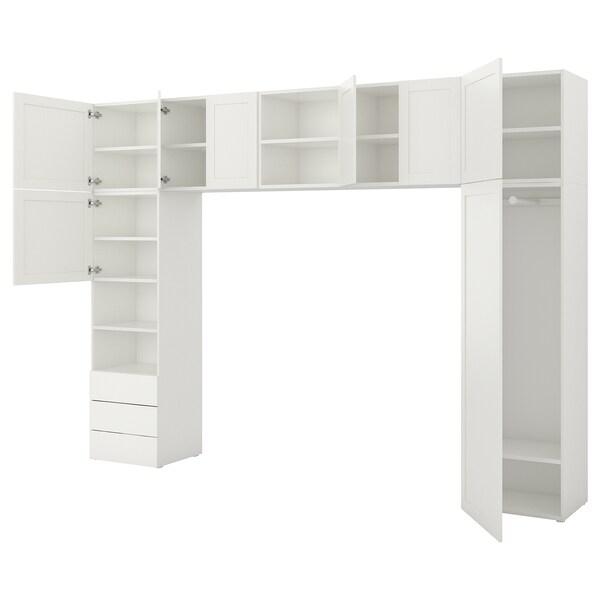 PLATSA skriňa biela/Fonnes Sannidal 340 cm 42 cm 241 cm