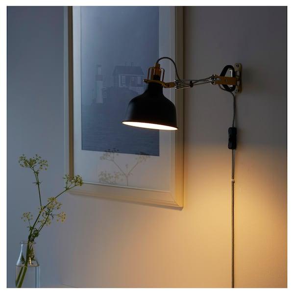 RANARP Bodová lampa so štipcom, čierna