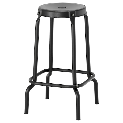 RÅSKOG barová stolička čierna 100 kg 30 cm 44 cm 44 cm 63 cm 63 cm
