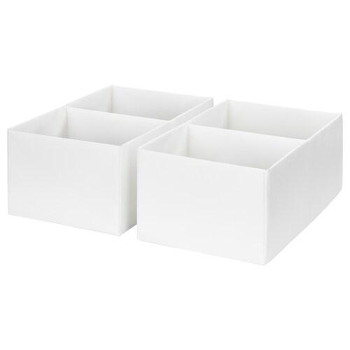 RASSLA škatuľa s priehradkami biela 25 cm 41 cm 16 cm 2 ks