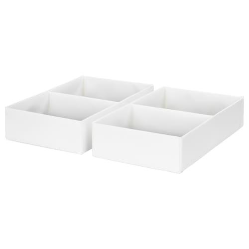 RASSLA škatuľa s priehradkami biela 25 cm 41 cm 9 cm 2 ks