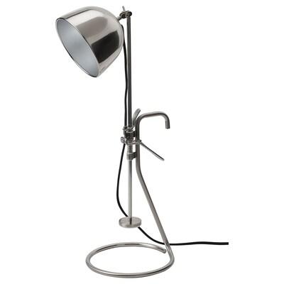 RÅVAROR Lampa so štipcom/stôl, nehrdzavejúca oceľ