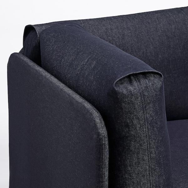 RÅVAROR Pohovka / posteľ s 2 matracmi, tmavomodrá/Moshult tvrdý, 90x200 cm