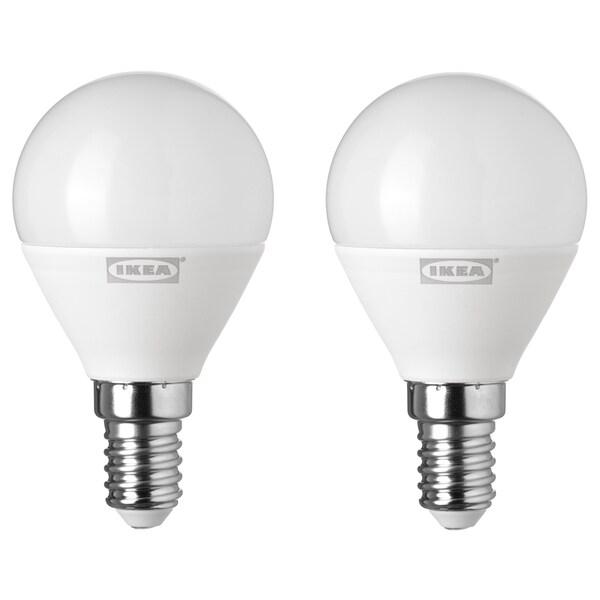 RYET LED žiarovka E14 400lumen Guľa osvetlenie opálová biela 400 lm 2 ks