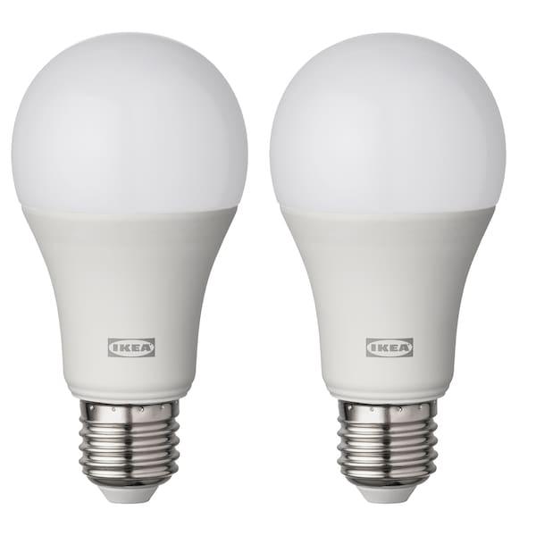 RYET Žiarovka LED E27 1521 lúmenov Guľa osvetlenie opálová biela 2700 kelvin 1521 lm 60 mm 14.5 W 2 ks