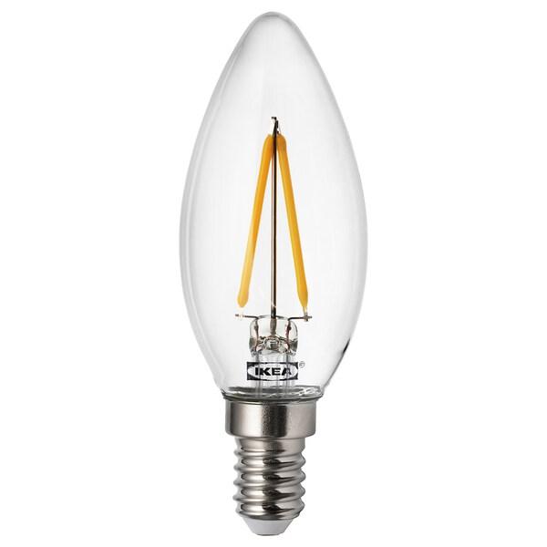 RYET LED žiarovka E14 200lumen, luster/priehľadná