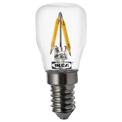 RYET LED žiarovka E14, 80 lúmenov, priehľadná