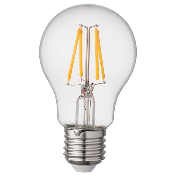RYET Žiarovka LED E27 470 lúmenov, Guľa osvetlenie priehľadná