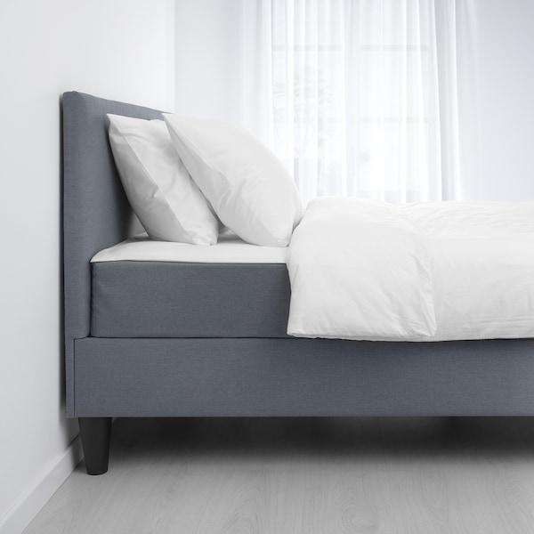 SÄBÖVIK Čalúnená posteľ, tvrdý/Vissle sivá, 160x200 cm