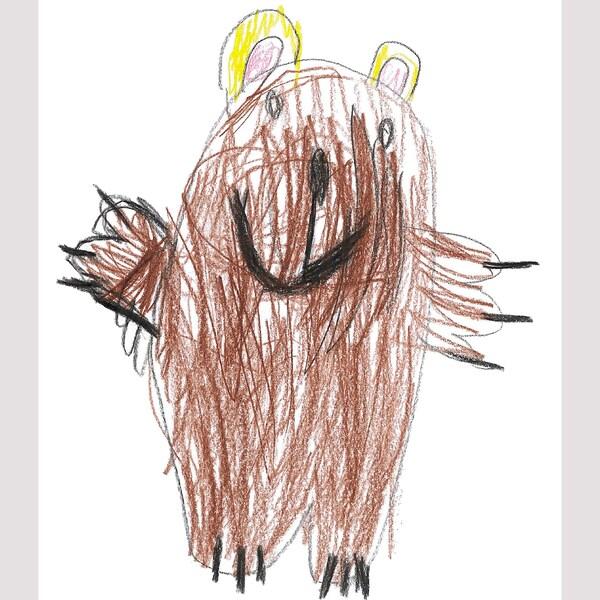 SAGOSKATT Plyšová hračka, hnedý medveď