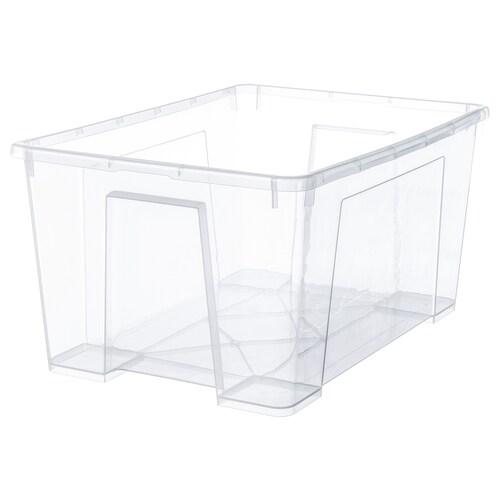 SAMLA škatuľa priehľadná 56 cm 39 cm 28 cm 45 l
