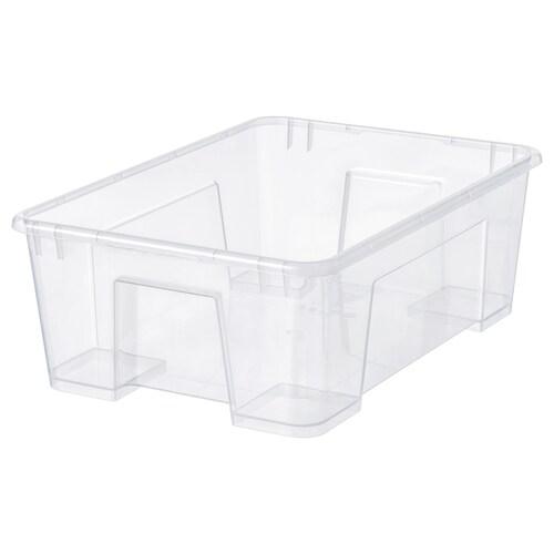 SAMLA škatuľa priehľadná 39 cm 28 cm 14 cm 11 l