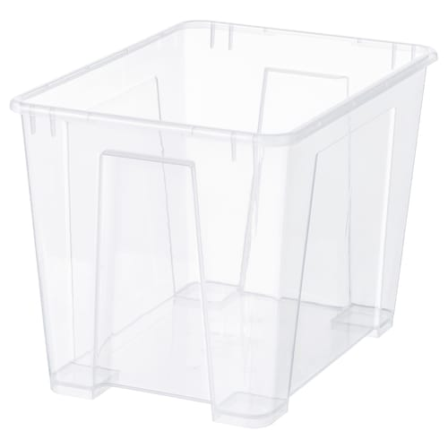 SAMLA škatuľa priehľadná 39 cm 28 cm 28 cm 22 l