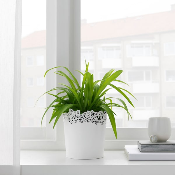 SAMVERKA kvetináč biela 14 cm 13 cm 12 cm 12 cm