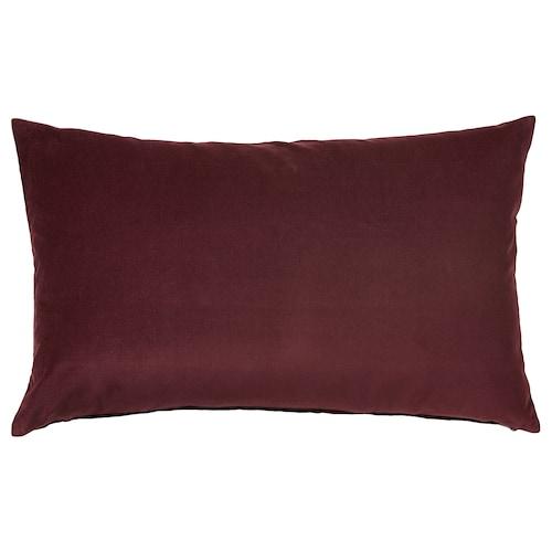 SANELA poťah na vankúš tmavočervená 40 cm 65 cm