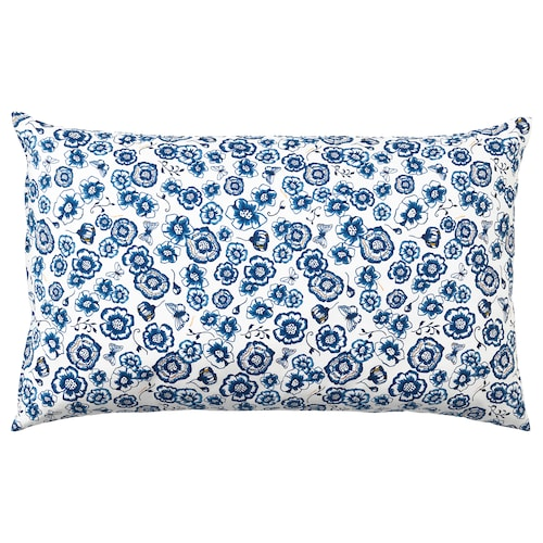 SÅNGLÄRKA vankúš kvet/modrá biela 65 cm 40 cm 400 g 430 g