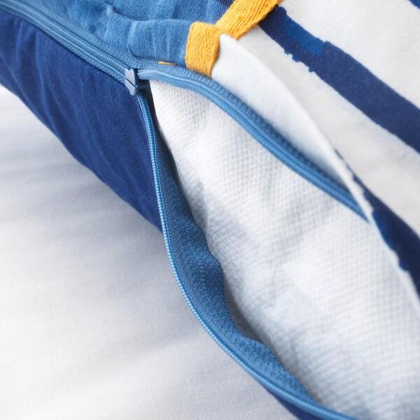 SÅNGLÄRKA vankúš pásik/modrá oranžová 50 cm 50 cm 350 g 380 g