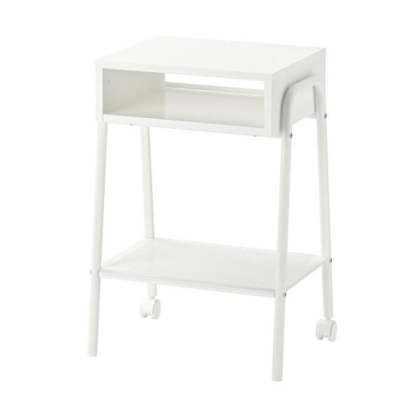 SETSKOG Nočný stolík, biela, 45x35 cm