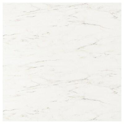 SIBBARP Nástenný panel na mieru, biela mramorový efekt/laminát, 1 m²x1.3 cm