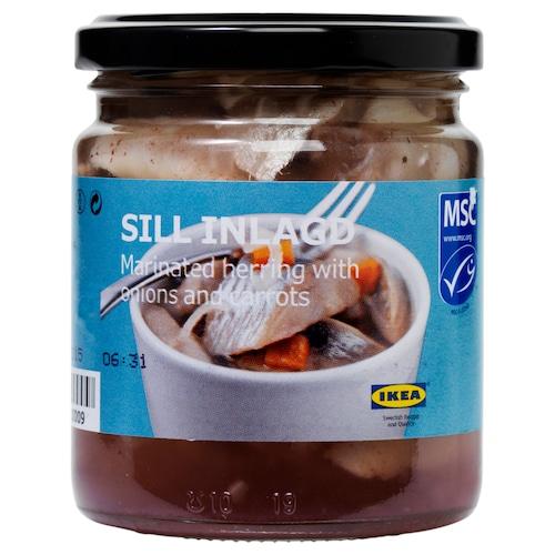 SILL INLAGD marin. sleď s cibulou a mrkvou 125 g 250 g