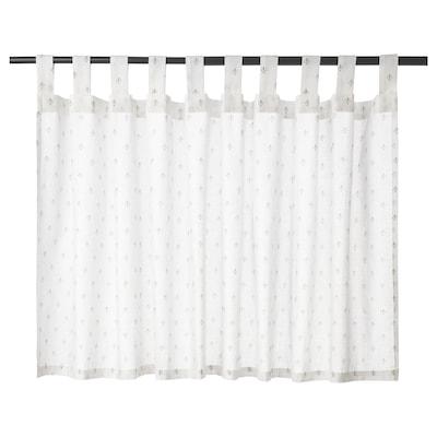 SIVIRENE Záves, biela, 150x50 cm
