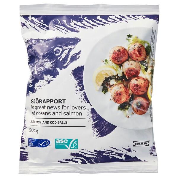 SJÖRAPPORT lososové guľôčky, mrazené 500 g