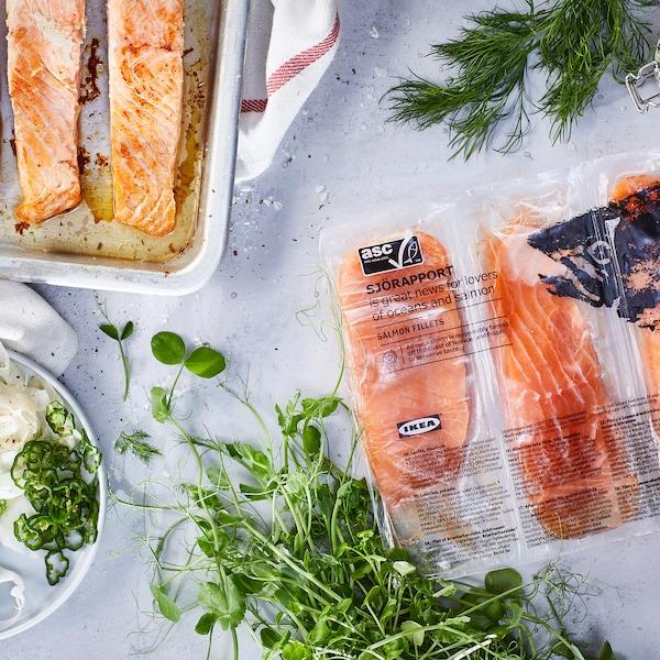 SJÖRAPPORT filet z lososa Certifikované organizáciou ASC/mrazené 500 g