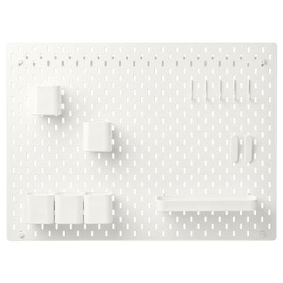 SKÅDIS Kombinácia s perforovaným panelom