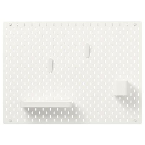 SKÅDIS kombinácia s perforovaným panelom biela 76 cm 12 cm 56 cm