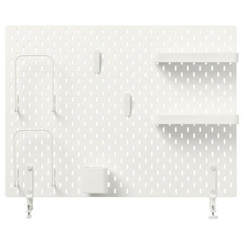 SKÅDIS kombinácia s perforovaným panelom biela 76 cm 10 cm 56 cm
