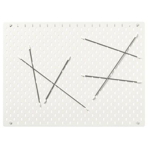 SKÅDIS kombinácia s perforovaným panelom biela 76 cm 4 cm 56 cm