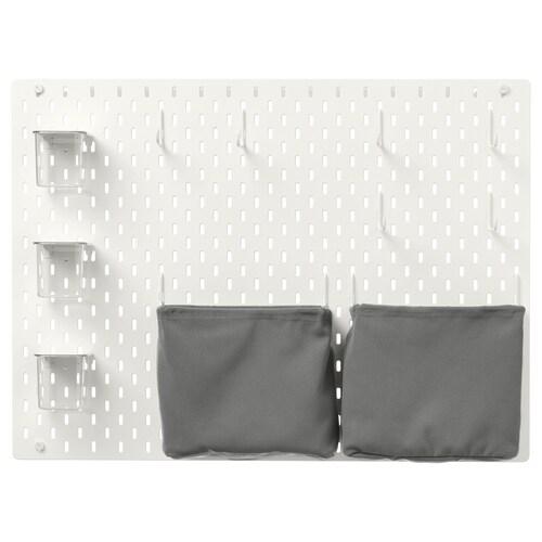 SKÅDIS kombinácia s perforovaným panelom biela