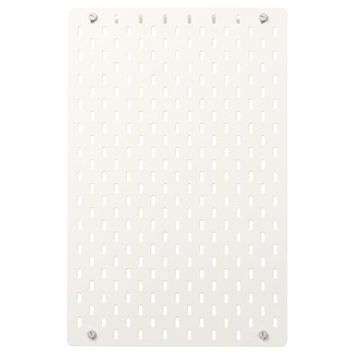 SKÅDIS perforovaný panel biela 36 cm 56 cm