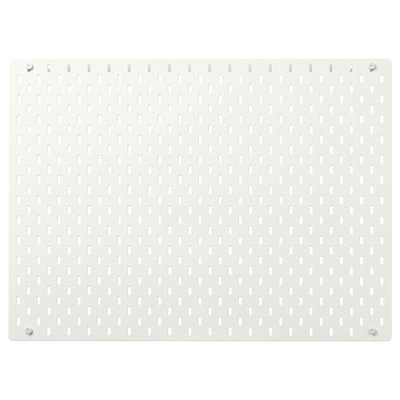 SKÅDIS Perforovaný panel, biela, 76x56 cm